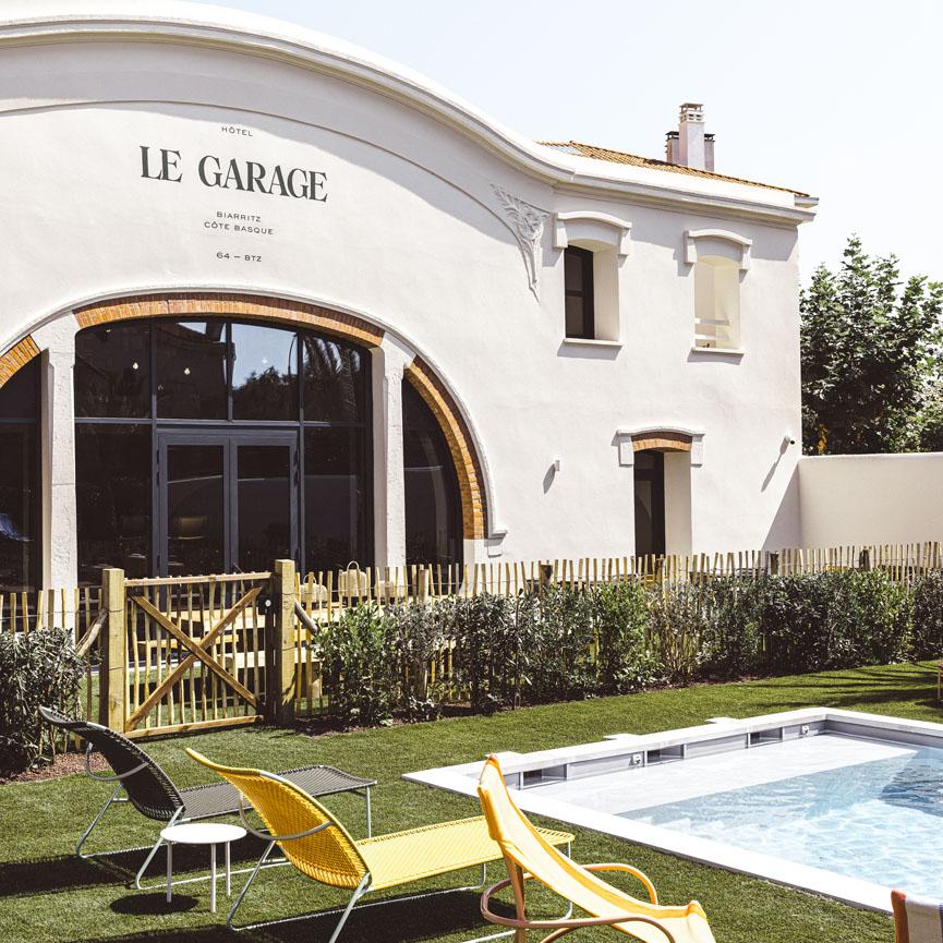 Esquisse façade Hôtel Le Garage à Biarritz