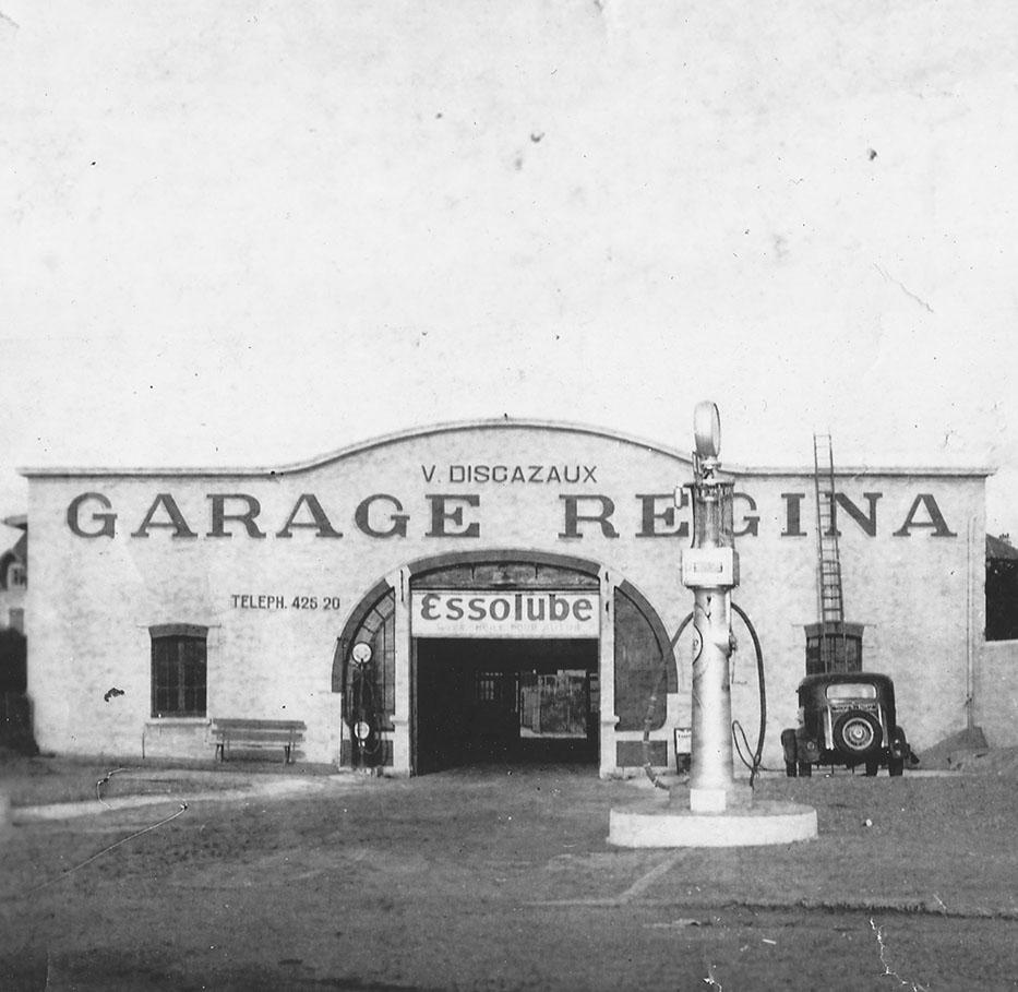 Le Garage Regina à l'époque à Biarritz