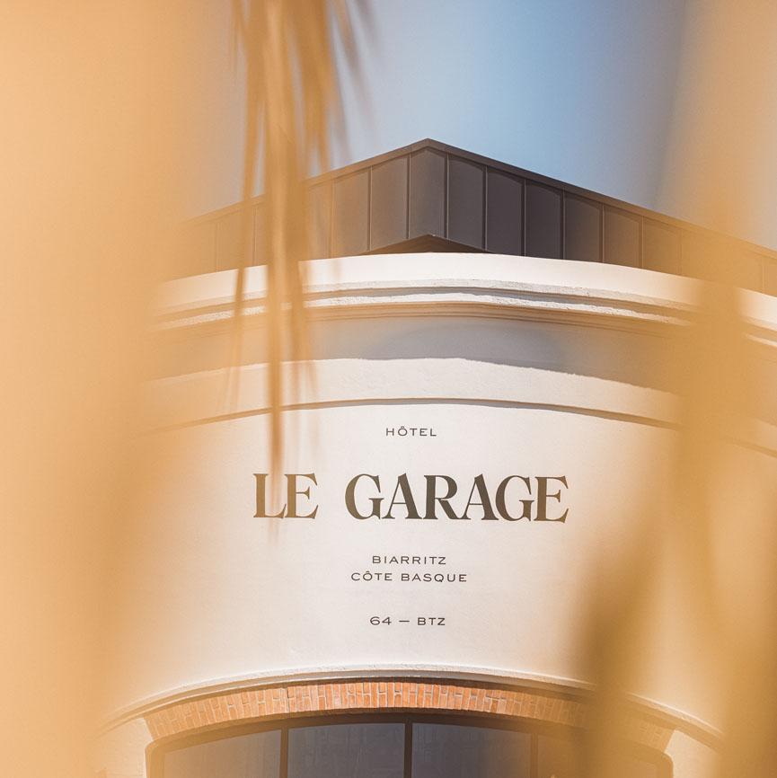 Façade Le Garage Regina à l'époque - Biarritz